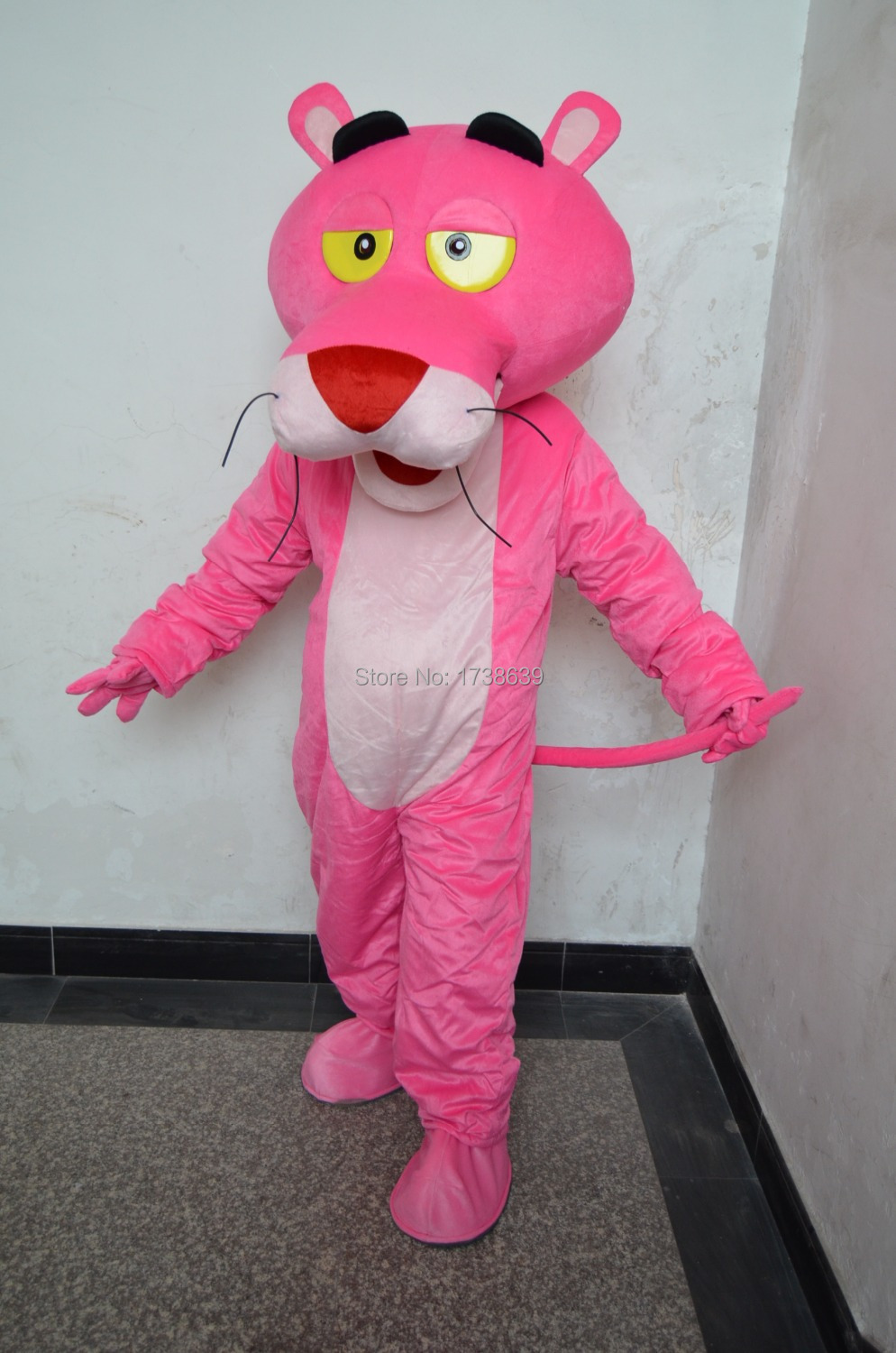 Pink Panther Mascot Head