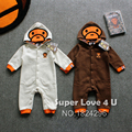 New Toddler Spring Baby Milo Hooded Clothes Cotton Fleece Newborn Rompers/Jumpsuit Cute Boy/Girl Onesie/Romper Infant Barboteuse