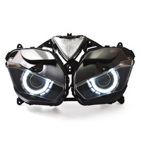 KT Full Headlight for Yamaha YZF R3 2015 2016 2017 LED Angel Halo Eye Motorcycle HID Projector Assembly