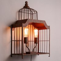 Industrial wind 2 heads wall lamps retro Loft Hotel cafe restaurant corridor personalized wrought iron wall light ZA825551