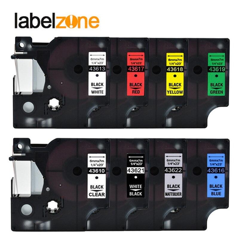 43613 6mm * 7 Mt Kompatibel Dymo D1 Label Drucker 43610 43621 43622 43618 43619 43617 43616 Für Dymo Label Manager 160 Label Maker