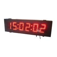 Открытый 5 inch 6 цифр красный цвет часы и Посчитай вниз (HOT6 5R)