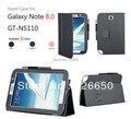 Премиум Стенд PU роскошный кожаный чехол Для Samsung Galaxy Note 8.0 GT-N5100 GT-N5110 Защитный Чехол + Бесплатный ЖК-Экран Протектор