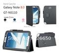 Premium Fique PU estojo de couro de luxo Para Samsung Galaxy Note 8.0 GT-N5100 GT-N5110 Capa Protetora + Protetor de Tela LCD Grátis