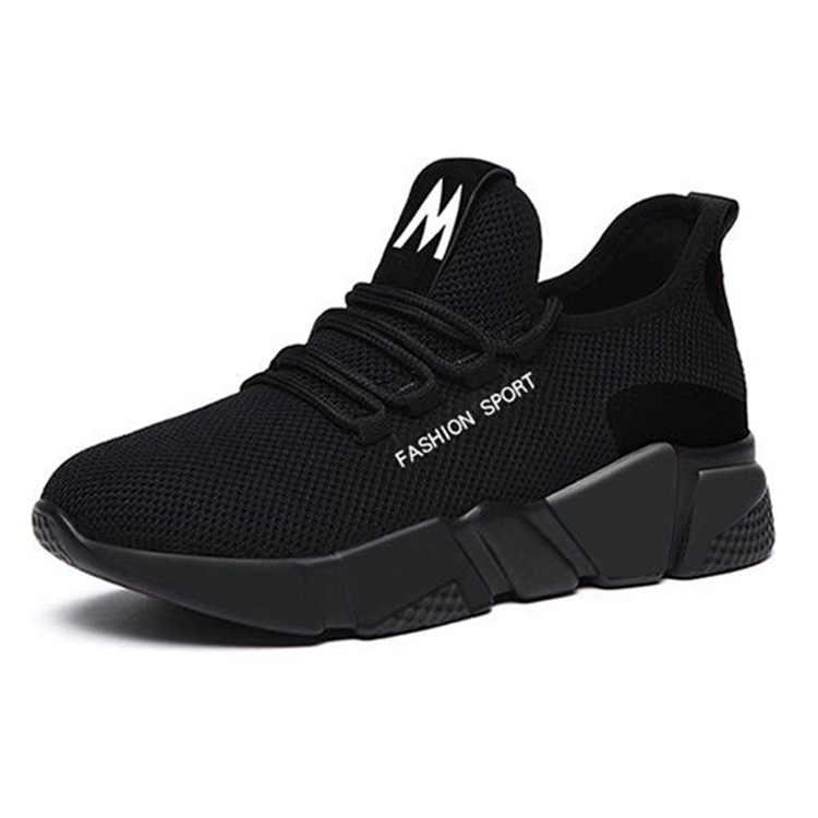 2019 Bahar Yeni Kadın rahat ayakkabılar Moda Nefes Hafif Yürüyüş Örgü Lace Up düz ayakkabı Ayakkabı Kadın