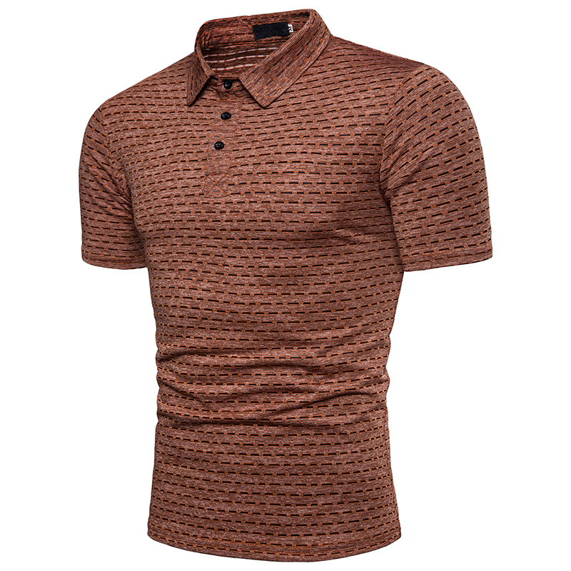 2019 New Arrival Tops Tess Casual   Polo   Shirt Men Cotton Short Sleeved Turn-down Collar Business Solid Summer   Polos   Male