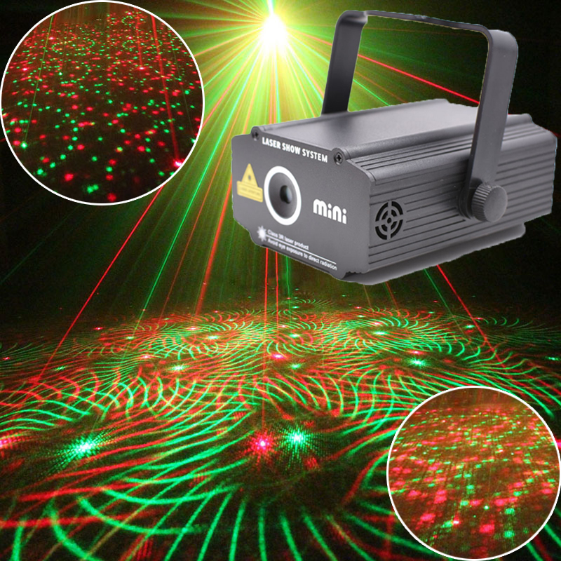 цена на Mini home parties Light and Music Equipment Laser Projector Lumiere For Disco Machine Party Lights