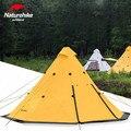 Naturehike Pirâmide Tenda Tenda Barraca de Acampamento Ao Ar Livre Tendas de Campismo Família Tenda À Prova de Chuva À Prova de Vento À Prova D' Água de Grande Capacidade