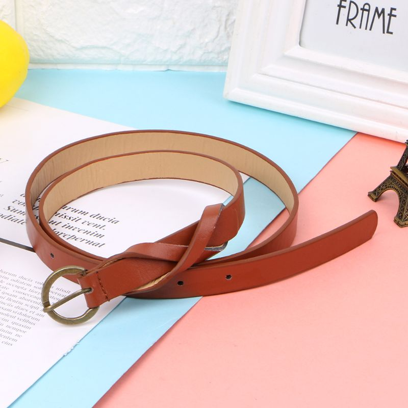 Simple Casual Slim Belt For Lady Students Retro Waist Bands Imitation Leather in Women 39 s Belts from Apparel Accessories