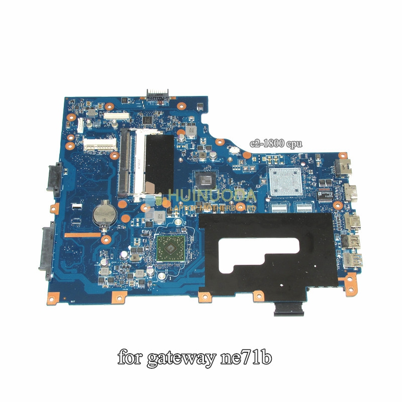 NOKOTION Notebook PC Laptop Motherboard For Gateway NE71B Pegatron EG70 EG70BZ Main Board Rev 2.0 DDR3 eg70 eg70bz rev 2 0 for gateway ne71b ne71b06u laptop motherboard e2 1800 cpu ddr3