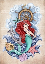 Ruxing 5D DIY Diamond Painting Mermaid Cross Stitch Rhinestone Home decor Mosaic gift diamond painting Pattern