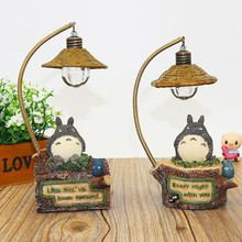 cute flexible Totoro lamp romantic led night light table lamp children birthday gift kids toy home decor craft decorative lights