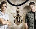 Supernatural Jensen Ackles Dean Winchester proteção amuleto pingente de colar N340
