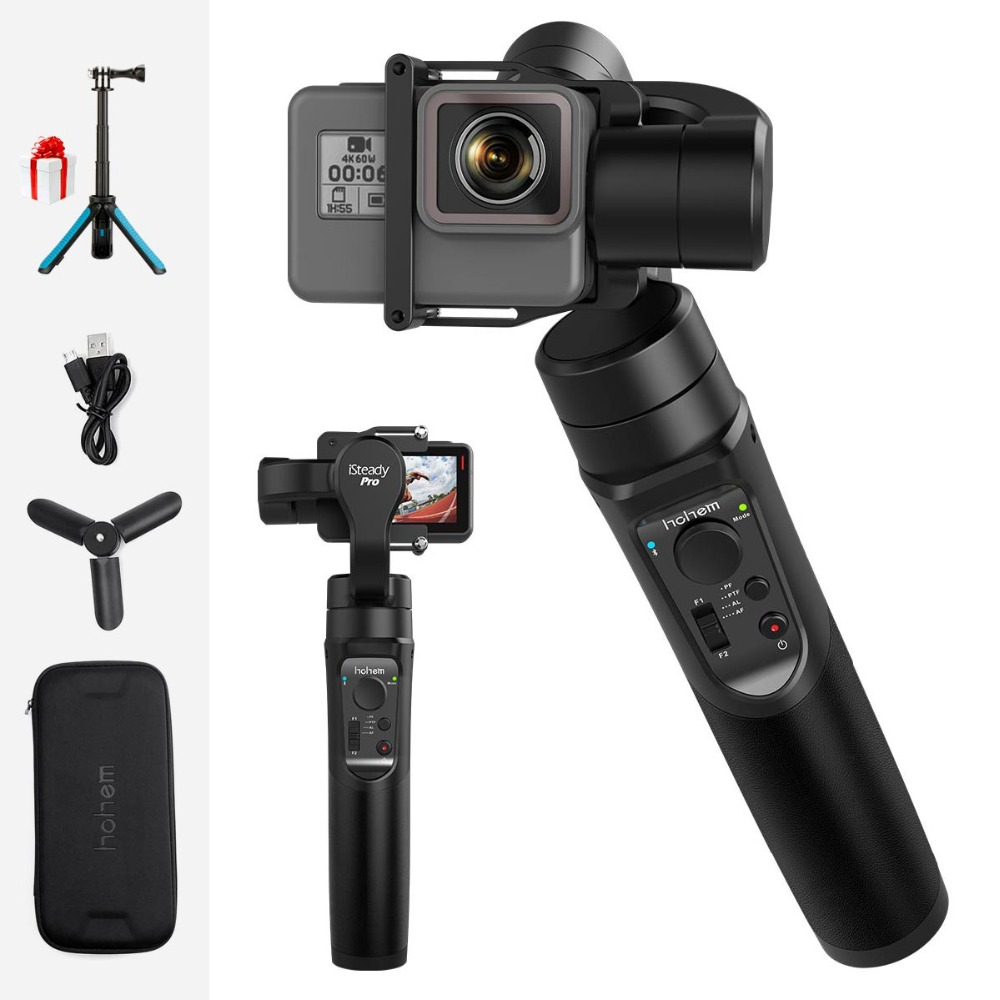 Hohem iSteady GoPro Stabilizer 3 Axis Handheld Gimbal Stabilizer Time Lapse Tracking for Gopro Hero 6/5/4 Yi Cam 4K Sony
