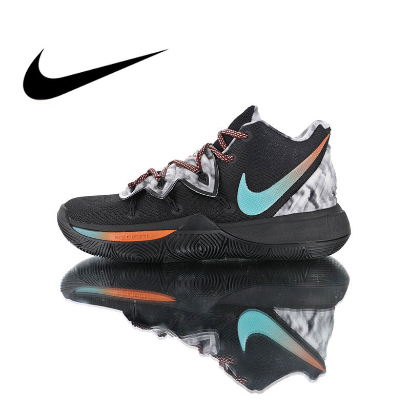 Original Authentic Nike Kyrie 5 Men's Basketball Shoes Sport Outdoor Breathable Sneakers Designer Athletic 2019 New AO2919-910
