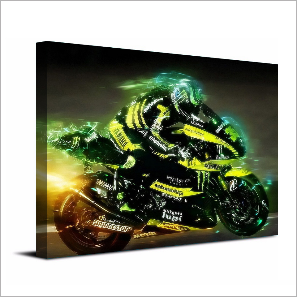 1 Pc Canvas Art Poster Motorcycles Sports HD Canvas Painting Wall Art Canvas Prints Home Decor Pictures for Living Room