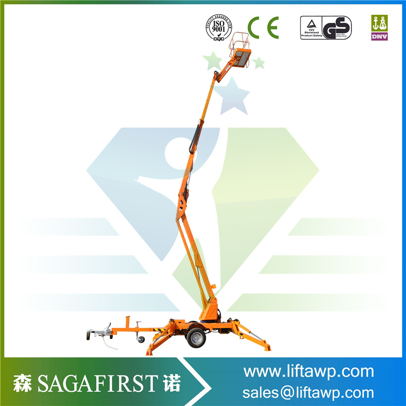 Good Cheap Towable Trailed Hydraulic One Man Snorkel Boom Lift