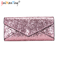 Leather Women Sequin Buckle Wallet Luxury Handbags Designer Card Holder Coin Clutch Organizer Storage Student Purses Case Bao