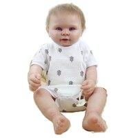55cm bb reborn reborn Full silicone vinyl reborn lifelike baby girl dolls baby reborn bonecas play house toys for sale
