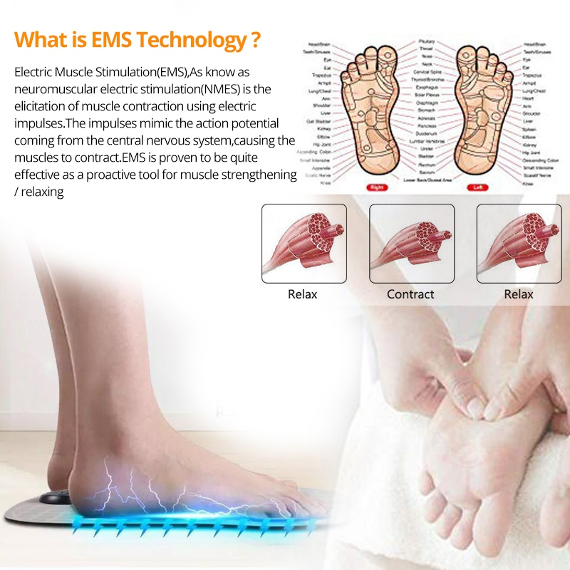 2019 New Intelligent Foot Massage Machine Foldable Massage Pulse Foot Cushion Massager in Feet from Beauty Health