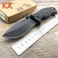 LDT EF 141 couteau pliant 440C lame en Fiber de verre poignée en plastique Camping chasse survie couteaux de poche couteau extérieur EDC outil