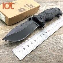 Ldt ef 141 faca dobrável 440c, lâmina de fibra de vidro, punho de plástico, para acampamento, caça, facas de sobrevivência, de bolso, ferramenta edc