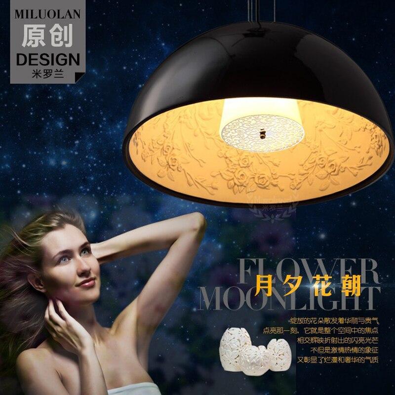 Závěsná světla Moderní jednoduchá LED Závěsná světla Itálie Sky zahrada Závěsná zahrada FRP a pěnová pryskyřice Materiál Závěsné lampy