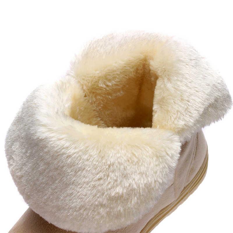 Pamuk kadın yarım çizmeler platformu düz kadın kış ayakkabı 2019 sıcak klasik kürk siyah bayanlar kar botları botas mujer ST905