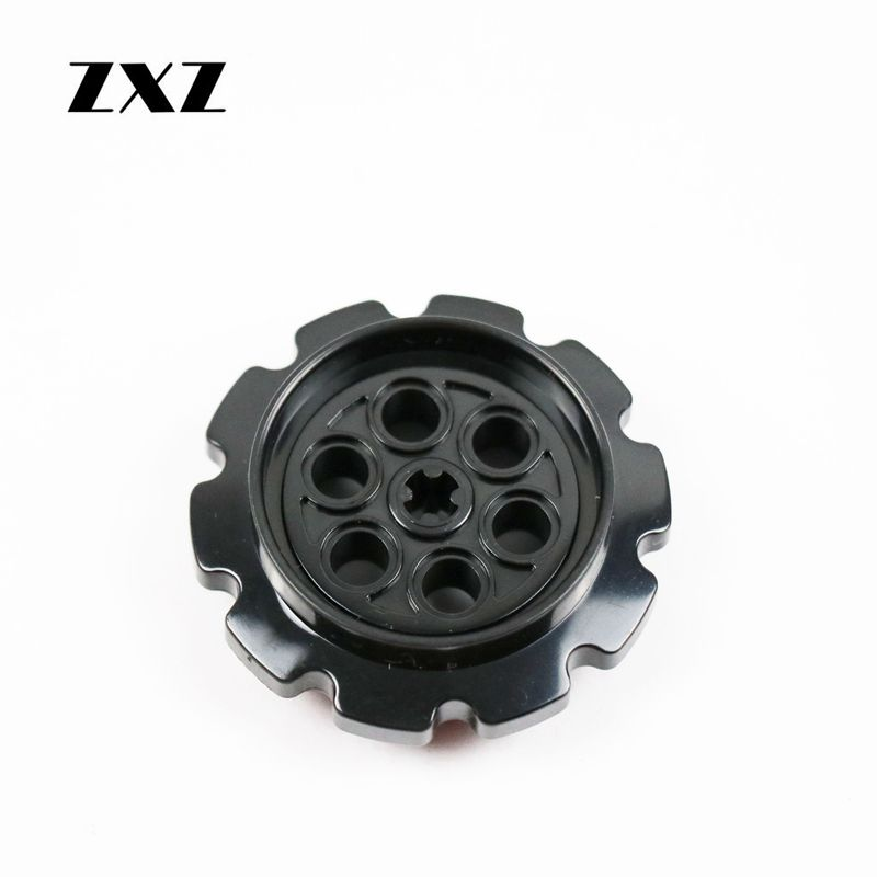 Zxz 50pcs/lot 4.2x1.6 Cm Technic Belt Pulley Tank Accessory Compatible With Legoes Technic Parts Toys & Hobbies