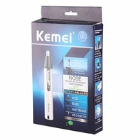 KeMei Professional Men Electric Nose Ear Hair Trimmer Painless Women Trimming Eyebrows Beard Hair Clipper Cut