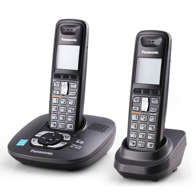 Telefone sem fio digital com máquina de resposta handfree voice mail backlit lcd fixo sem fio telefone para o escritório casa bussiness
