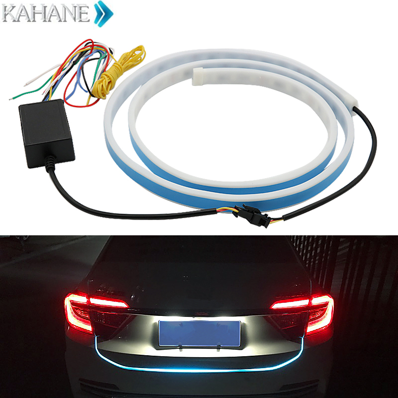 120cm car-styling LED Car Tail Trunk Tailgate Strip Light Colorful flash LED Light Bar Floating Tail Warning Lights for Toyota special car trunk mats for toyota all models corolla camry rav4 auris prius yalis avensis 2014 accessories car styling auto