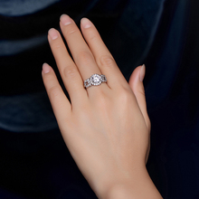 White Gold Plated Engagement Wedding Rings Women