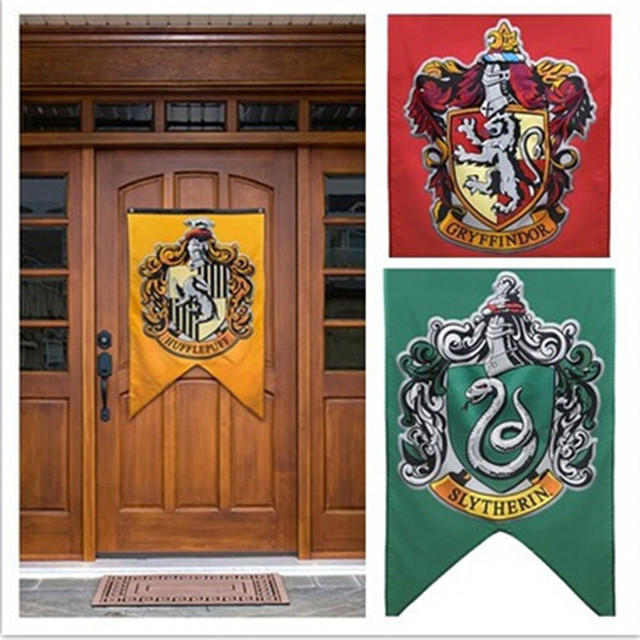 Lovely New College Flag Banners Gryffindor Slytherin Hufflerpuff Ravenclaw Boys  Girls Kids Decor Harry Potter Party Supplies