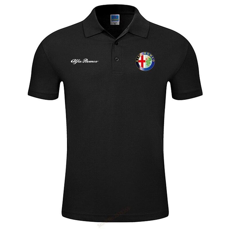 S-3XL брендовая Новая мужская летняя мужская рубашка Поло Alfa Romeo, Высококачественная Мужская хлопковая рубашка с коротким рукавом, брендовые ...