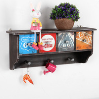 Vintage Decoration Storage Box Wall Decoration Wall Wooden Hanging Drawer Storage Box Wooden Shelf For Living Room