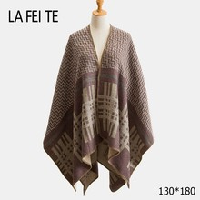 Cashmere Blanket Scarf Women Poncho Winter Warm  Pashmina Shawl Female Stoles Wool Long And Capes