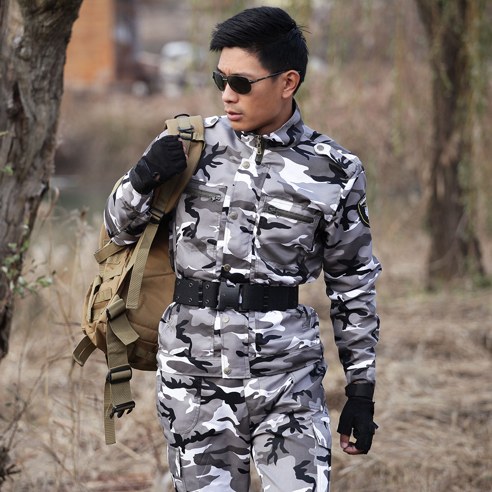 Outdoor Army Hunting Clothes Camouflage Suits Military Tactical Uniforms Outfit For Men Combat Camping Jacket Pants Ghillie Sets In