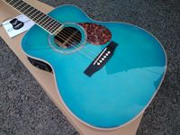 free shipping Byron limited guitar gloss finishing Acoustic Guitar solid Spruce ebony wood fingerboard blue color guitar