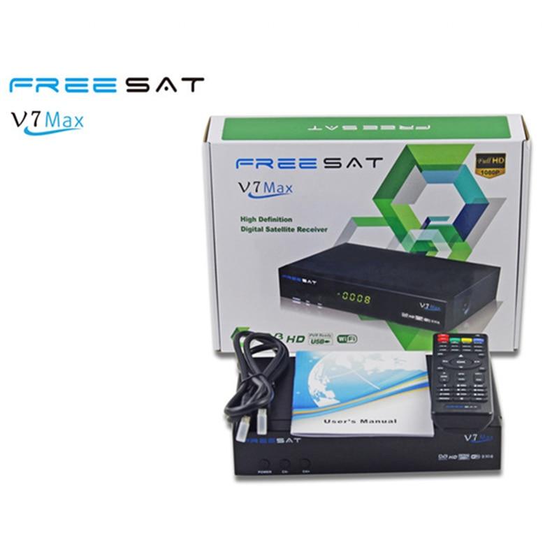 ФОТО 1080p Full HD Freesat V7 Max DVB-S2 Satellite TV Receiver PowerVu Biss Key Set Top Box