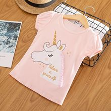 Kids Girl T Shirt Summer Baby Boy Cotton Tops Toddler Tees Clothes Children Clothing Unicorn T-shirts Short Sleeve Casual Wear jumping meters kids girl t shirt summer baby cotton tops toddler tees clothes children clothing unicorns baby girls t shirts