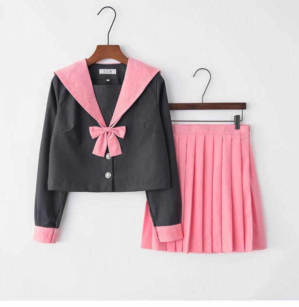 Розовый Британский элегантный дизайн школьная форма для девочек костюмы для косплея хор представление короткий рукав JK школьная форма S-3XL
