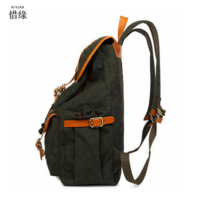 цена на 2017 Vintage Men Canvas Backpack Fashion School Bag Casual Travel Rucksack Shoulder Bags Laptop bolsas mochila man backpacks