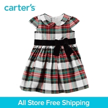 Carter's 1-piece baby children kids clothing Girl Spring Summer Plaid Holiday Dress 120G169