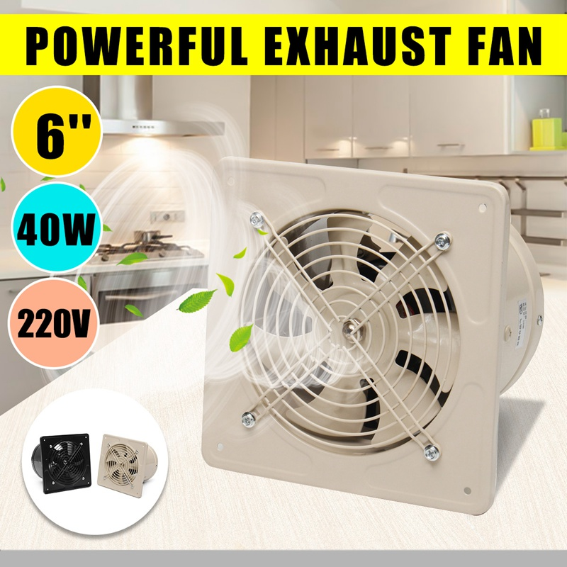 Warmtoo 220V 6 Inch 40W Mini Wall Window Exhaust Fan Bathroom Kitchen Toilets Ventilation Fans High Speed Energy-Saving Fan ventilation fan