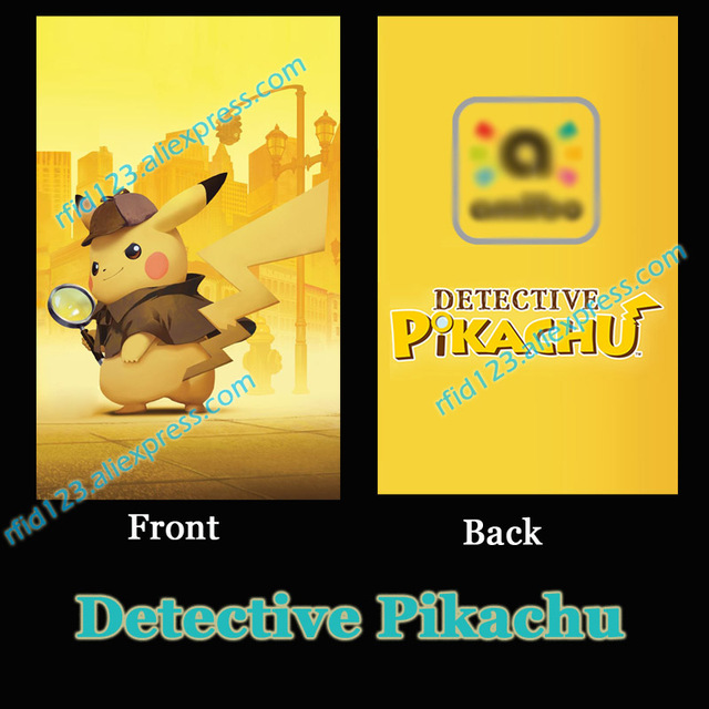 ntag215 printed nfc card written by tagmo for switch detective