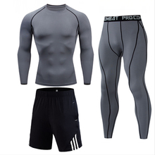 Underwear Tracksuit-Set Training Leggings Shorts Joggers T-Shirt Gym Fitness Sport Men's