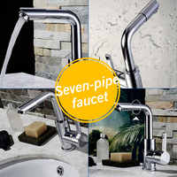 Stainless Steel Bathroom Basin Faucets Kitchen Faucet Single handle Sink Faucet Tap Brass Bathroom Water Mixer Faucet
