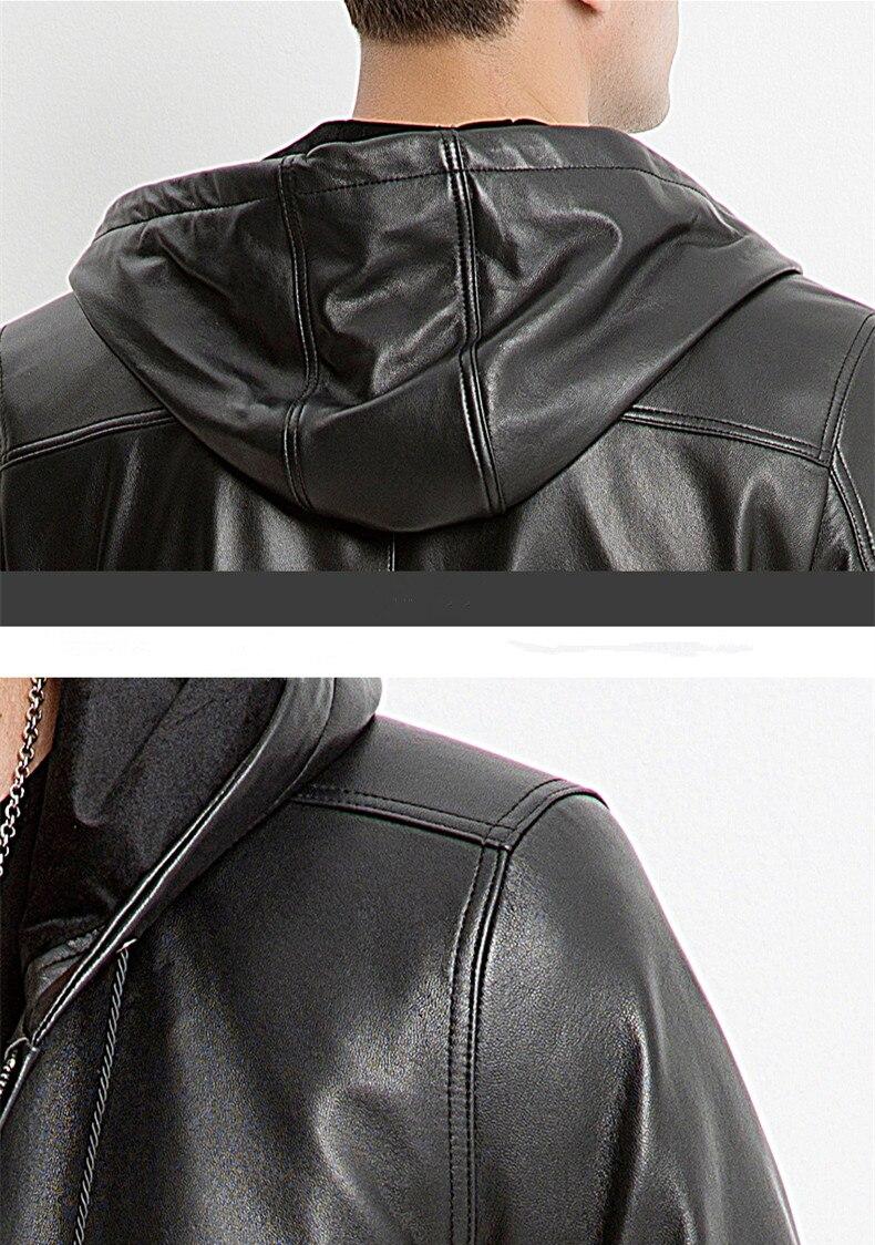 AYUNSUE зимняя куртка для мужчин из натуральной овечьей кожи Куртка мужская осень г. плюс размеры пальто Jaqueta De Couro M6660 MY791