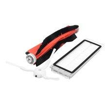 2 шт. hepa фильтр + 4 шт. боковая щетка + 1 шт. основной щетка подходит для Xiaomi Mi робот пылесос части аксессуары